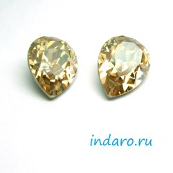 Капля Swarovski 4320 Golden Shadow